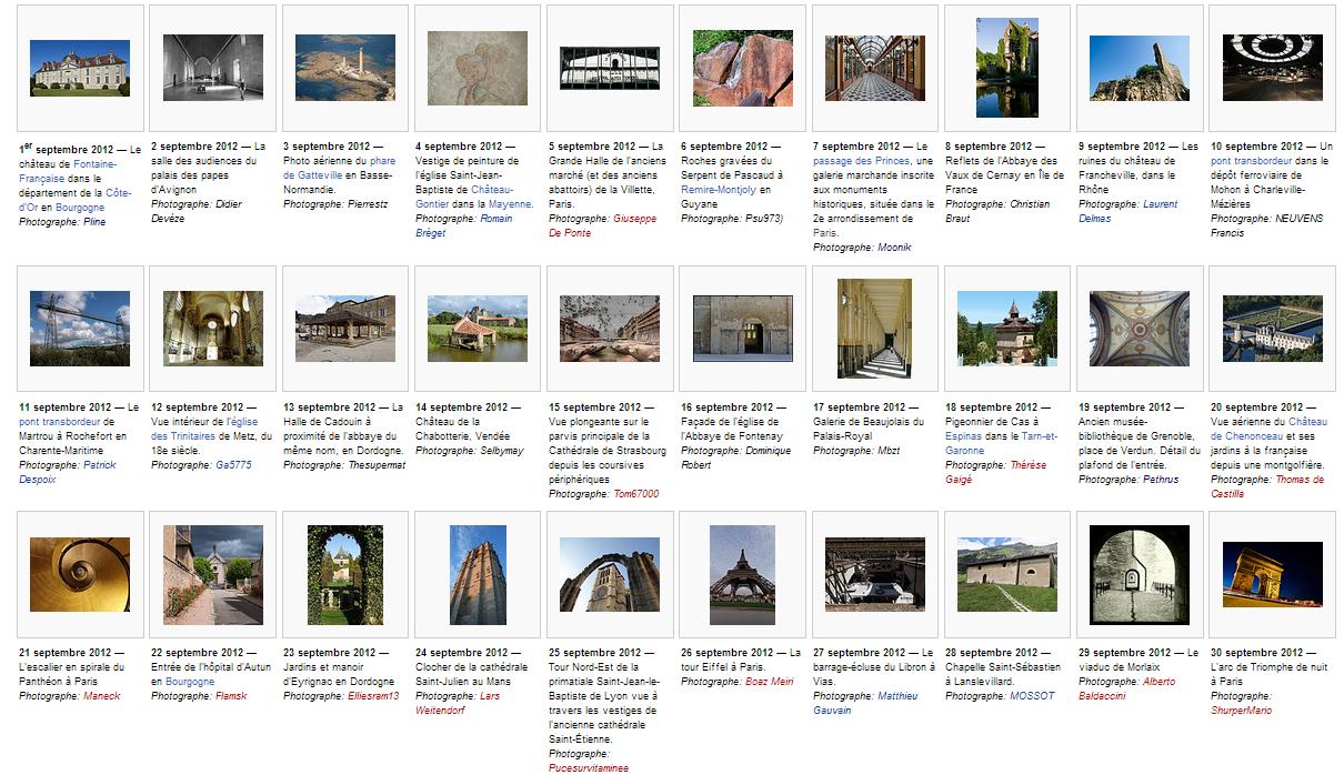 Les images du jour de Wiki Loves Monuments 2012